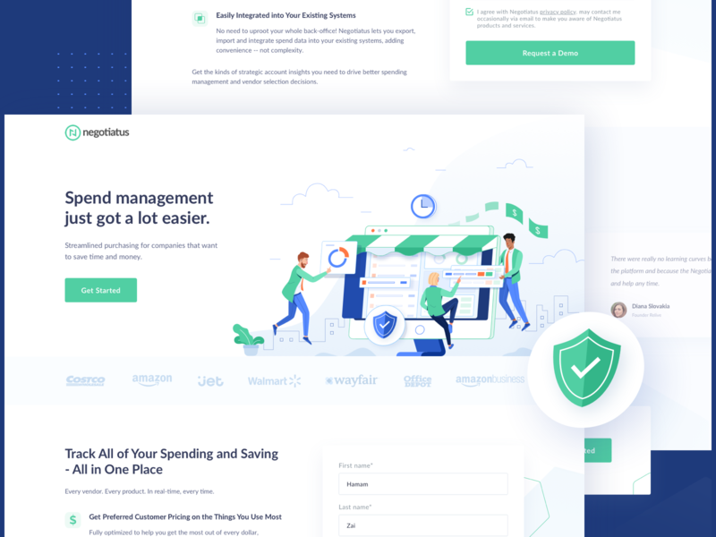 Management Landingpage typography design header vector website people management business ui clean icon illustration landing page