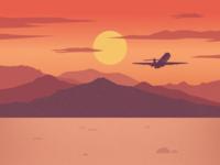 Sunset Background Illustration