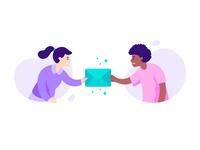Share/Invite Flyout Illustration