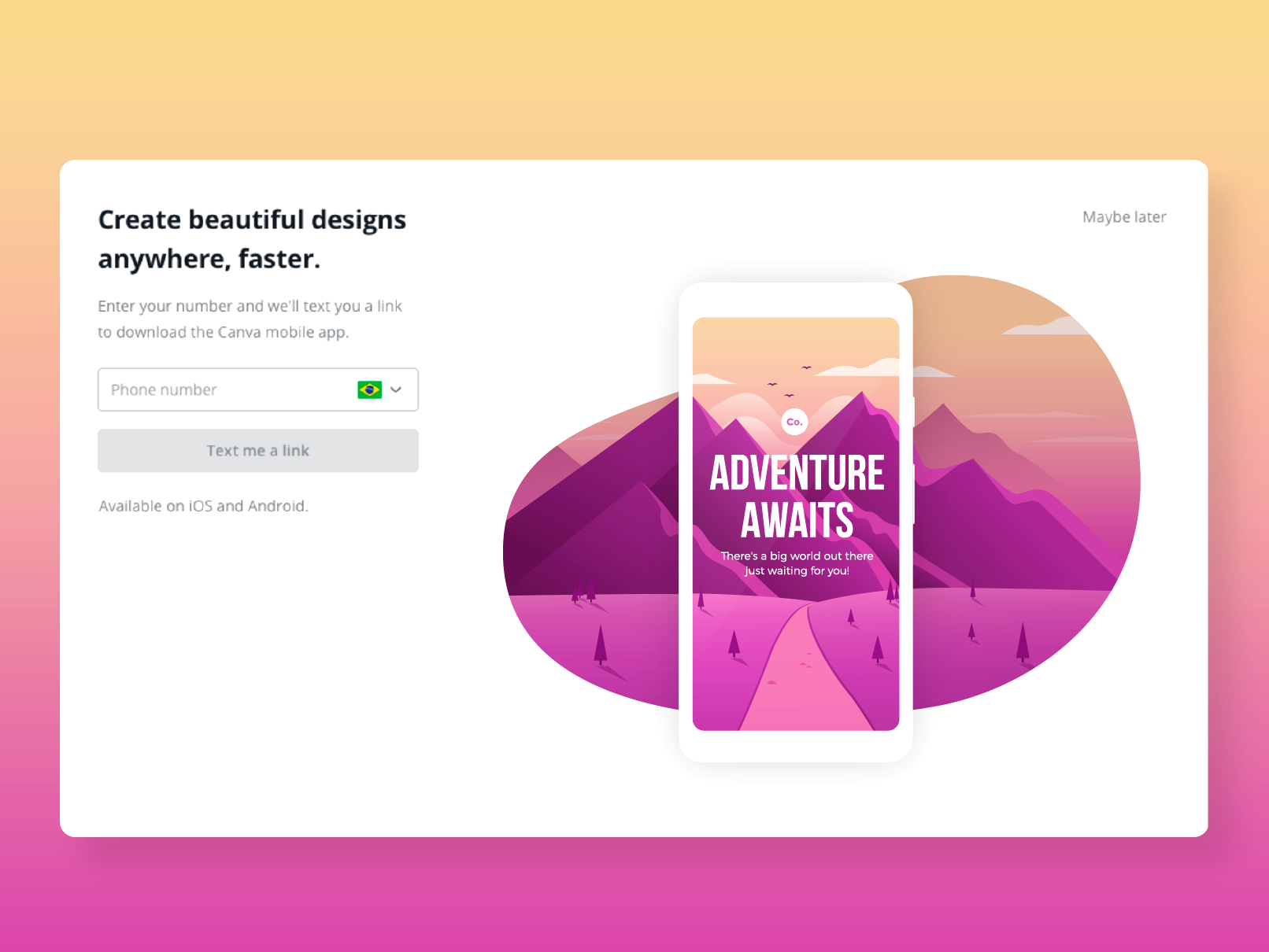 Canva get the app post