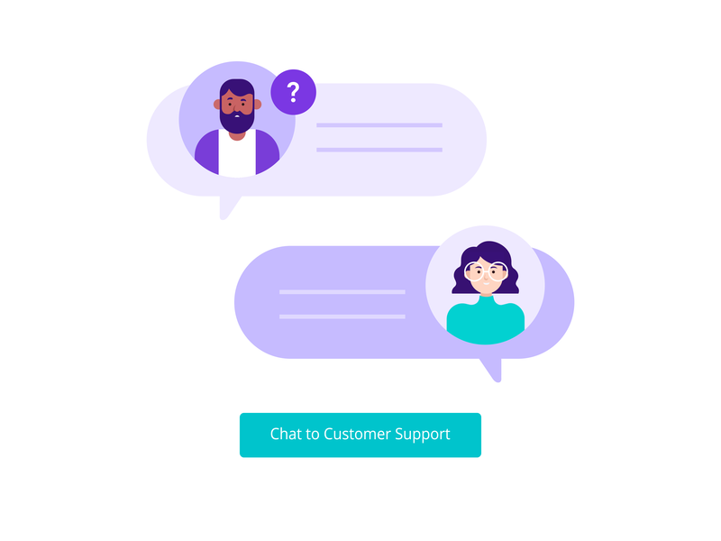 Customer Support live chat avatar agent chat customer service customer support canva character illustration illustration vector