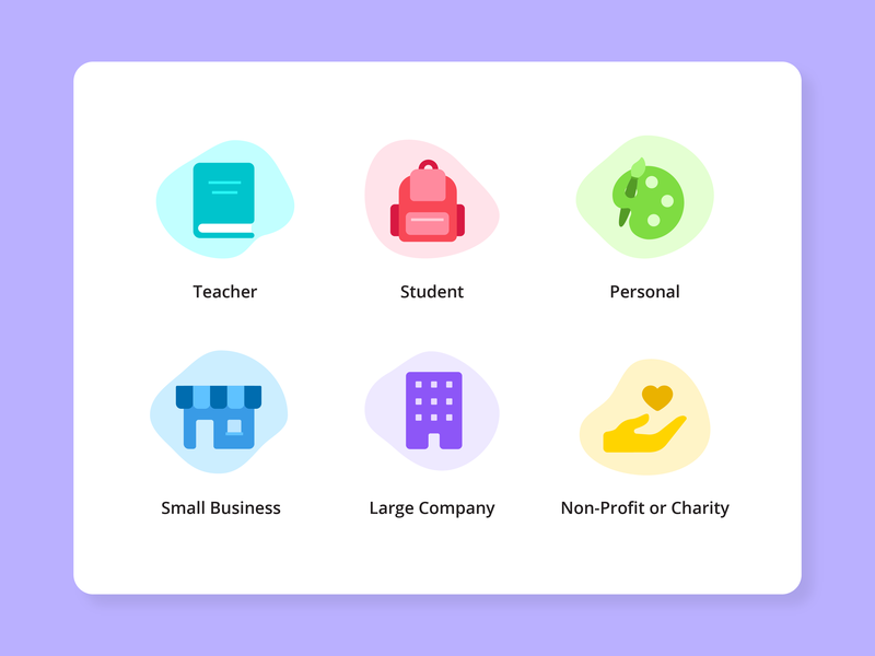 Canva User Journey Icons user type product illustration icon design user journey iconography icon canva illustration vector