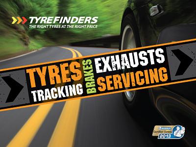 Tyrefinders graphic design poster car road