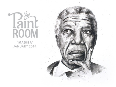Nelson Mandela painting for The Paint Room
