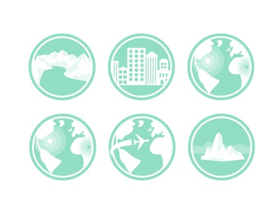geography related icons icons vector