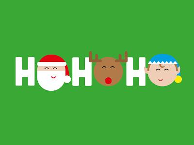 Ho Ho Ho christmas santa reindeer elf