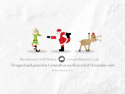 Christmas card backs