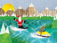 Wakeboarding christmas card