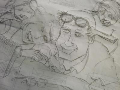 Family Sketch sketch pencil family rough