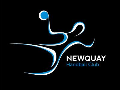 Newquay Handball Club Logo handball logo vector white blue figure newquay