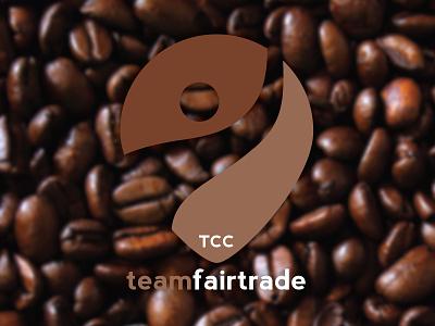 Team Fairtrade logo logo brown coffee fairtrade