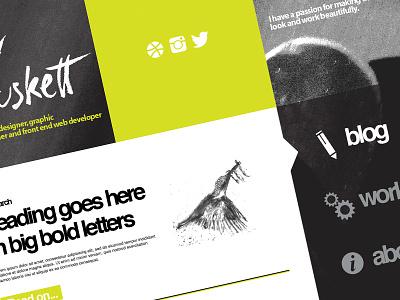 Personal website redesign web design graphic design