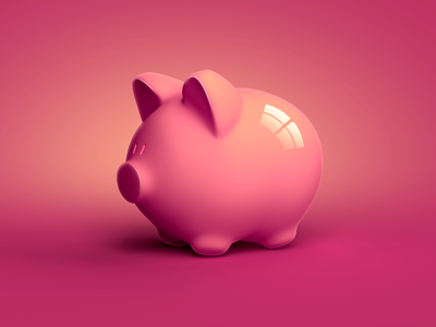 Pig icon reflection light retouch photo pig pink