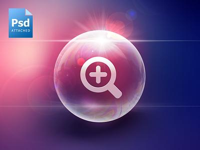 Big Bubble icon bubble psd download