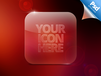 Glass Icon Template psd ios download glass icon template