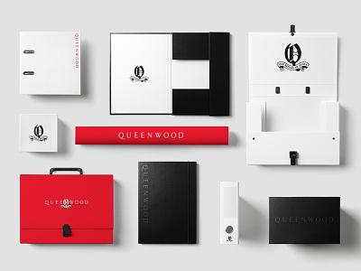 Queenwood Stationery branding