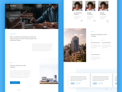 Consulting Group Landing Page