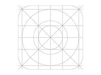 iOS7 Icon Grid Template
