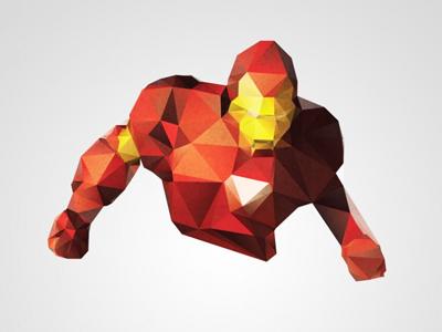 Iron Man – Polygon Pixel iron man polygon pixel triangle art poster a3 download free print stock psd photoshop