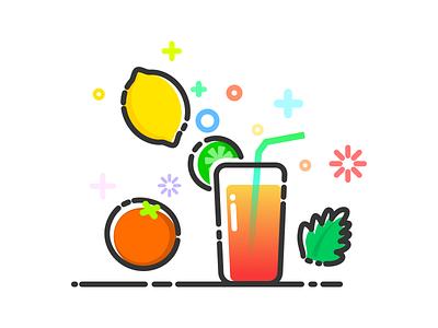 Fruits Juice In Summer Holiday summer drink mint kiwi orange lemon fruits juice mbe style