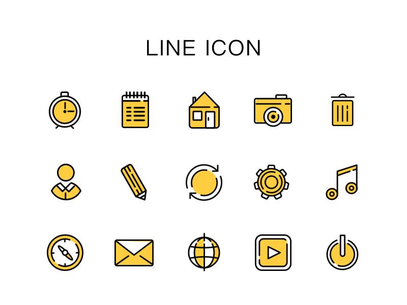 Line Icon    psd free icon