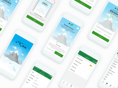 The Everest Race - Competition Pages tabcorp mountain everest flat lay uxui ux competition