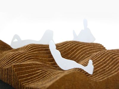 Undulating Cork Urban Structure - Model model making architecture urban design industrial design furniture seating cork industrial design