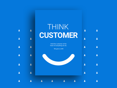 Think Customer uxui ux ui safetyculture poster design poster graphic design