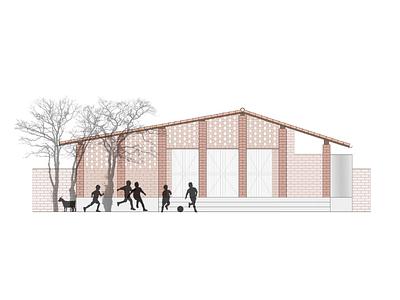 Low Cost Housing for Mozambique house elevation cad photoshop architectural design architechture