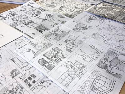 Customer Storyboarding customer journey drawing storyboard ux design safetyculture illustration