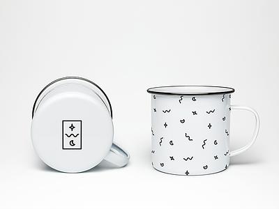The Wilderness Collective Enamel Mug fun artdirection branding letters logo pattern enamel mug camping