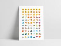 Android Blobs Emoji Poster