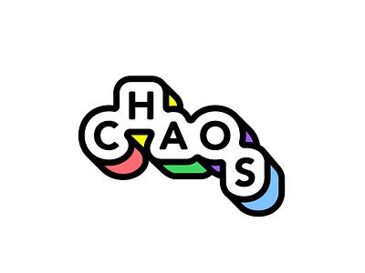Chaos AI Logo color type simple logo letters identity monogram branding minimal