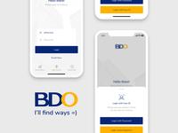 BDO Mobile Banking - UI Challenge