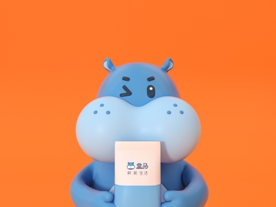 盒马双十二 mascot letter illustration ui three-dimensional design 三维 c4d