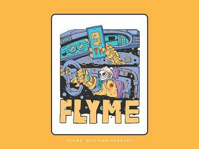 Flyme  9th anniversary flyme 插图 illustration