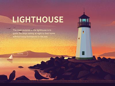 LIGHTHOUSE bird sailing design illustrations home lighthouse