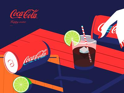 Coca Cola illustration illustrations mobile cocacola lemon app 插图 cola