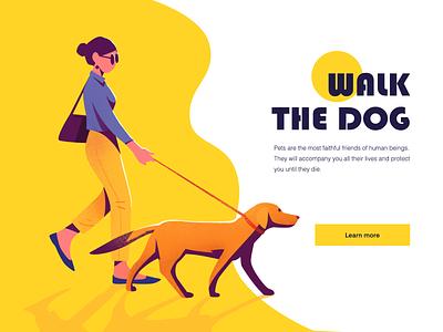 Walk The Pet pet dog illustration illustrations