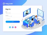 TNQ Dashboard Login Page Redesign