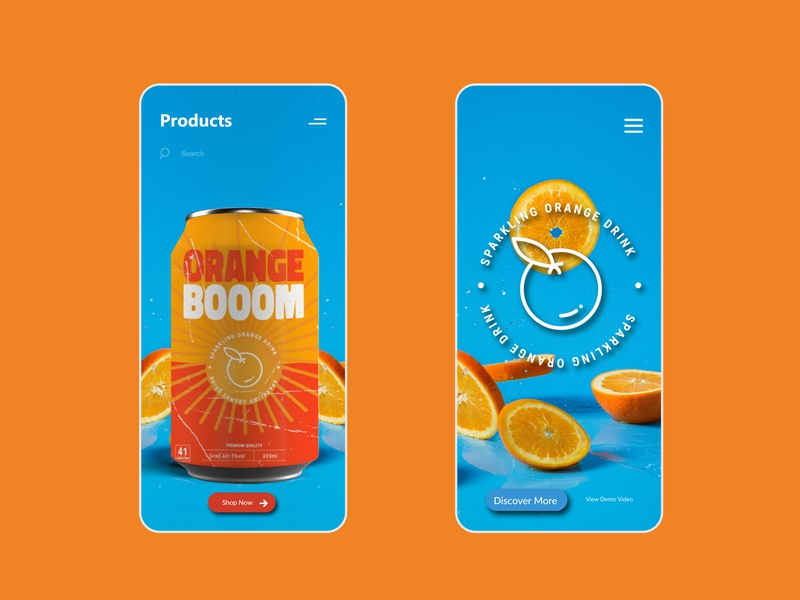 Orange Boom - Mobile UI