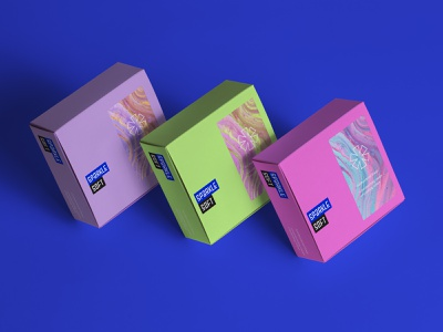 Soap Brand - Weekly Warmup logo branding shape geometry minimal design typography fresh colors box clean fresh soapbox soap packaging soap