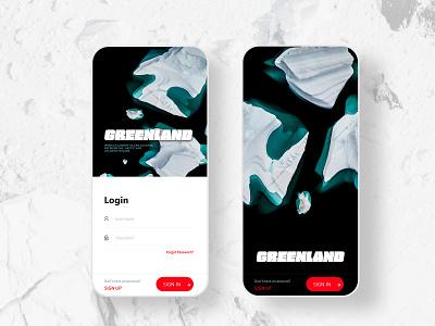 ICEBERG GREENLAND APP UI interface uidesign visual style black typography design minimal photography iceberg ice greenland mobile app mobile ui mobile