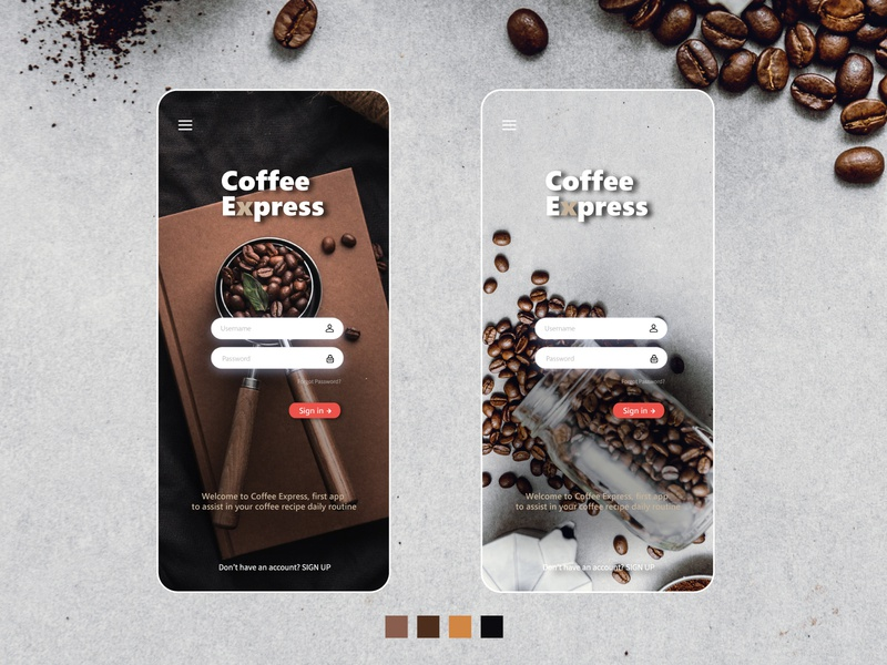 Coffee Express Login UI