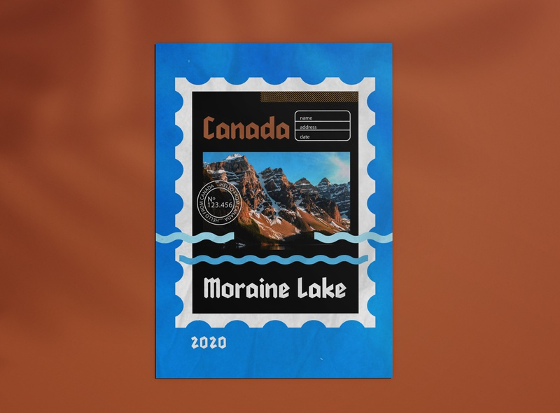 Moraine Lake Canada Postcard