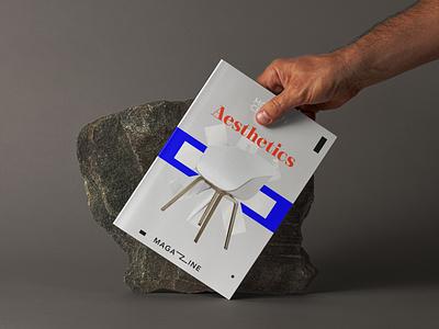 Aesthetics Magazine Cover aesthetic geometry branding illustration minimal design typography cover art magazine cover magazine illustration magazine