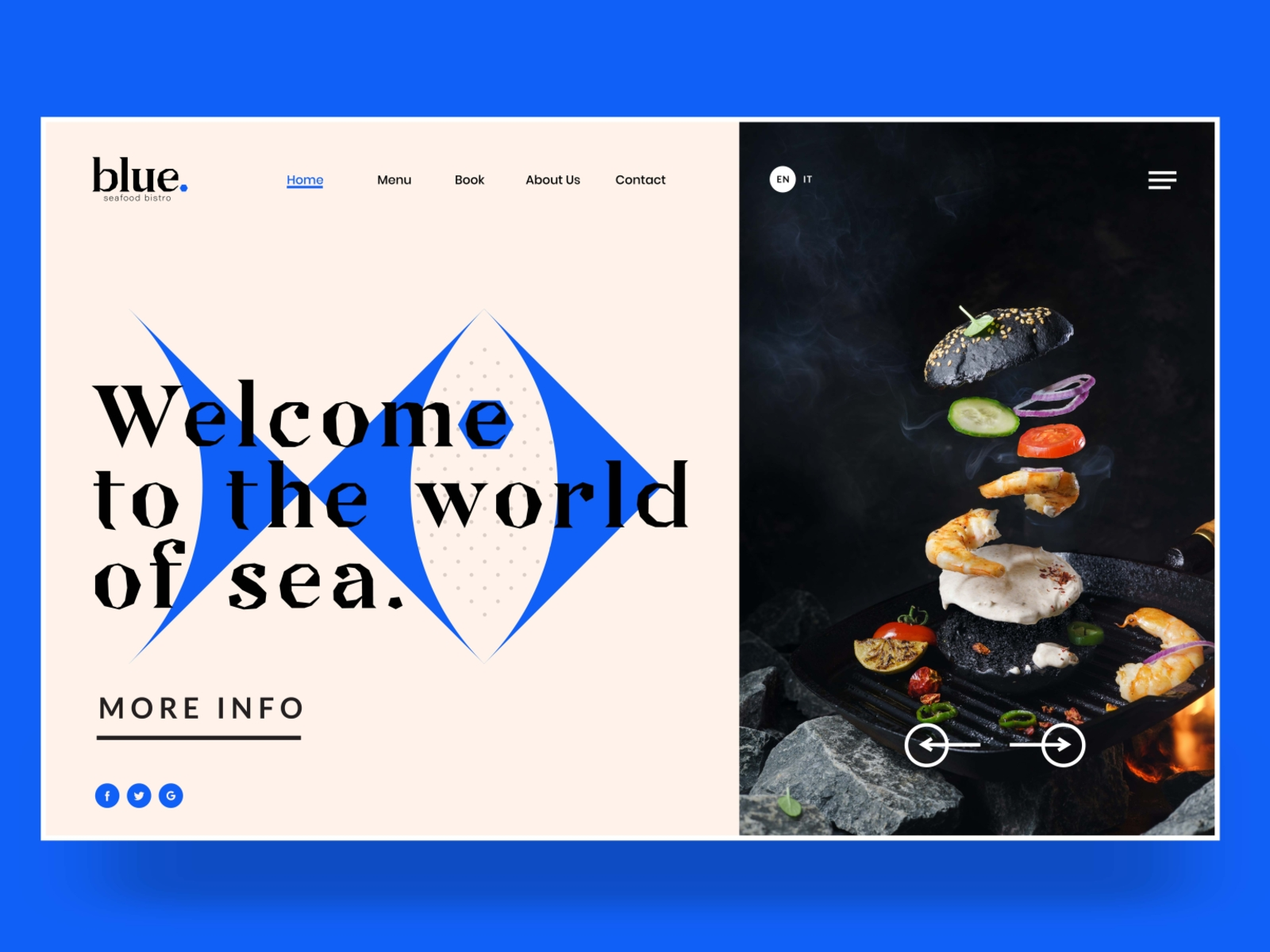 BLUE - BISTRO SEAFOOD LANDING PAGE by ...
