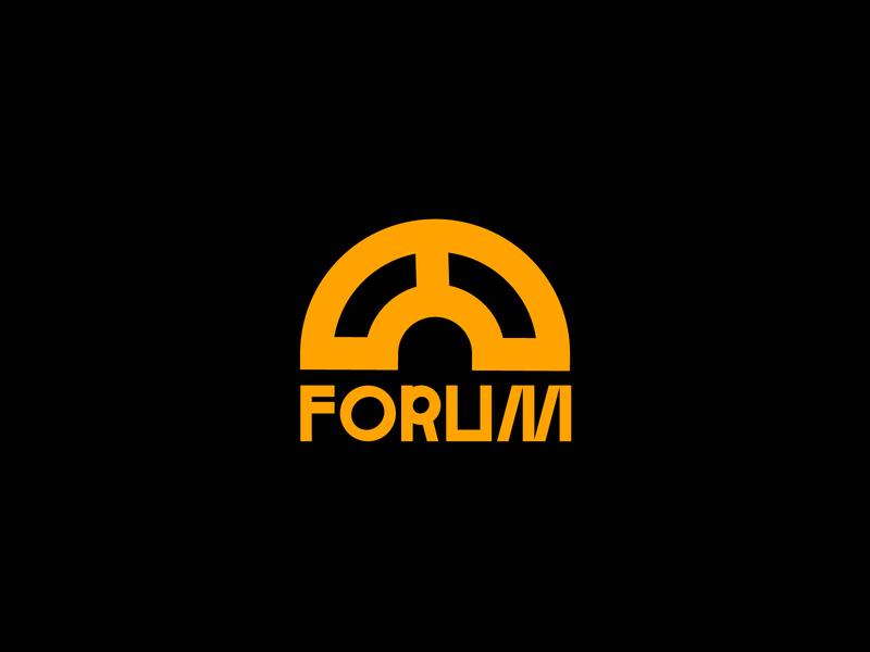 ARCH FORUM - LOGO & BRANDING typo architecture modern logotype flat logo branding illustration shape geometry minimal design typography
