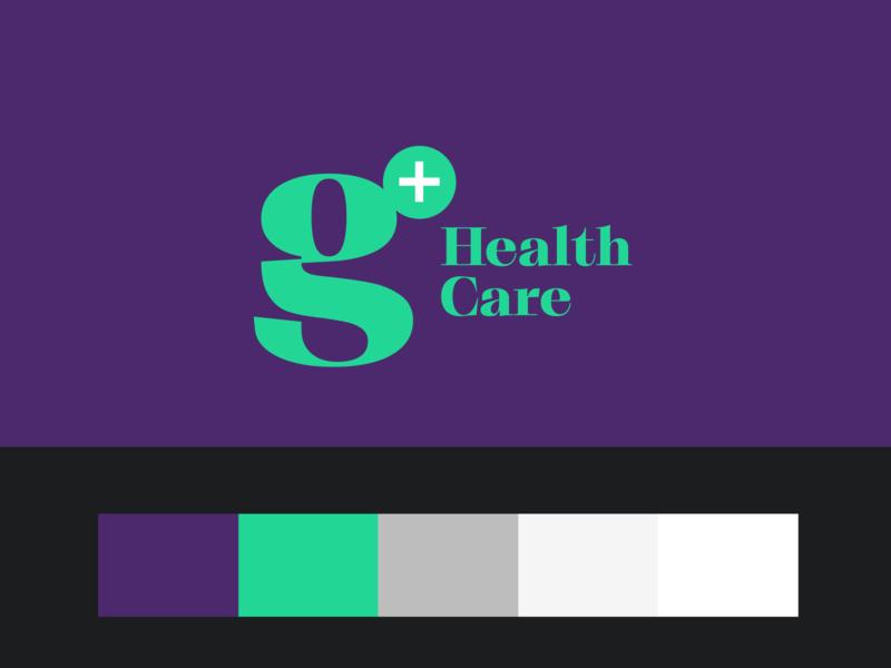 G+ modern typo vector minimal typography illustration shape logotype logo design flat branding