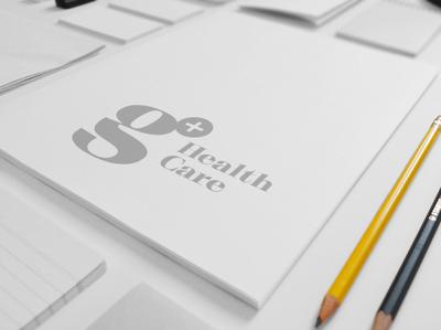 G+ HealthCare typo app insurance healthcare medical logo medical clean ui vector flat black illustration shape minimal design typography branding logotype logo